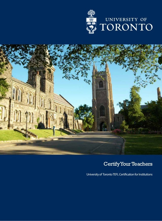 University of Toronto TEFL Online - Institutional sales brochure - 150 hours
