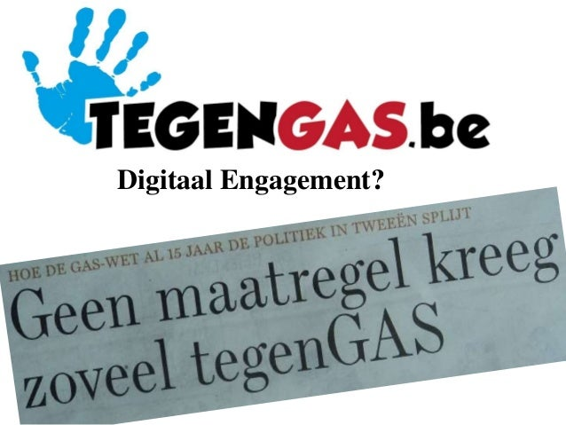 20140520 Digitaal engagement: share to care - TegenGas