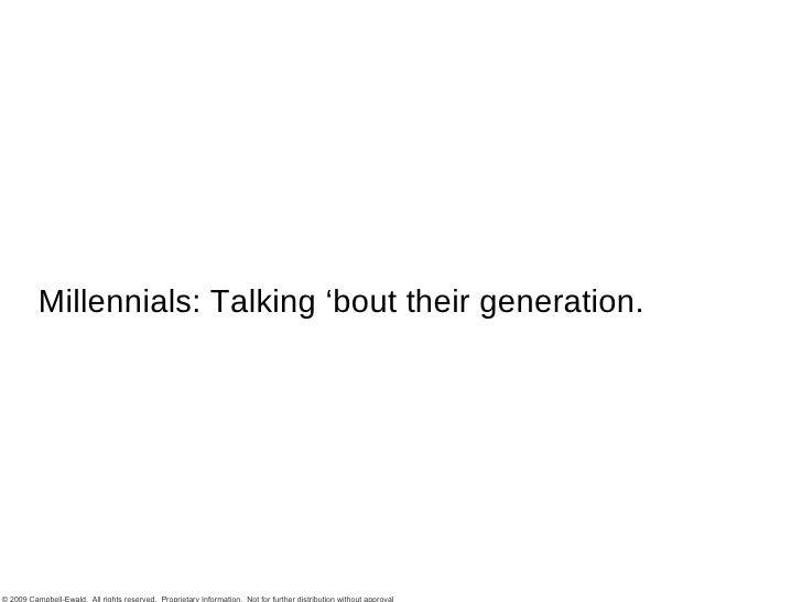 Teh Millennials Part I