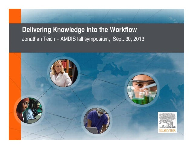 Delivering Knowledge into the Workflow Jonathan Teich – AMDIS fall symposium, Sept. 30, 2013