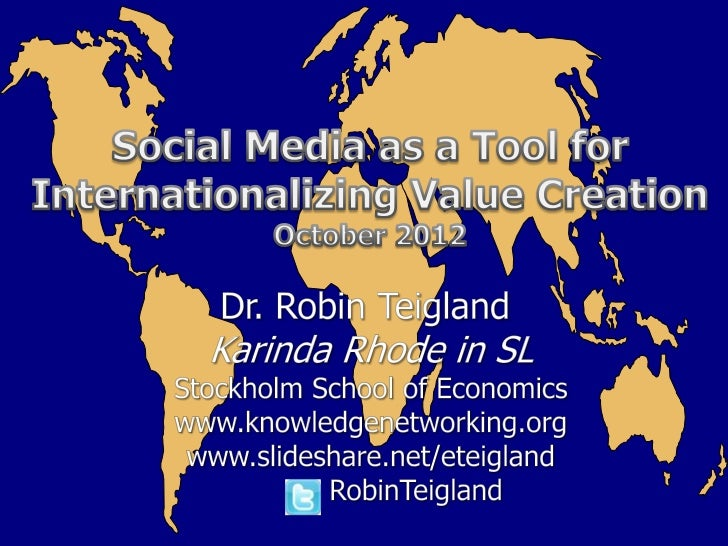 """Today""""s discussion Background Using social media for internationalization Into the future"""