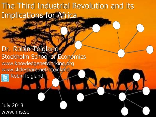 Third Industrial Revolution and Implications for Africa_Teigland
