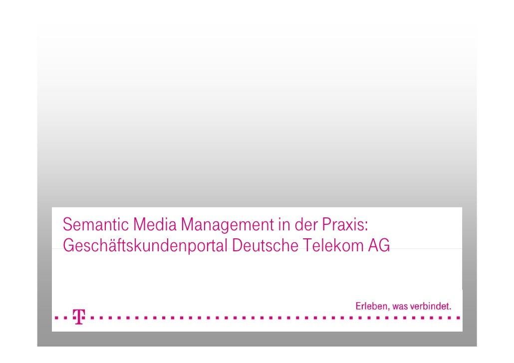 Semantic Media Management in der Praxis