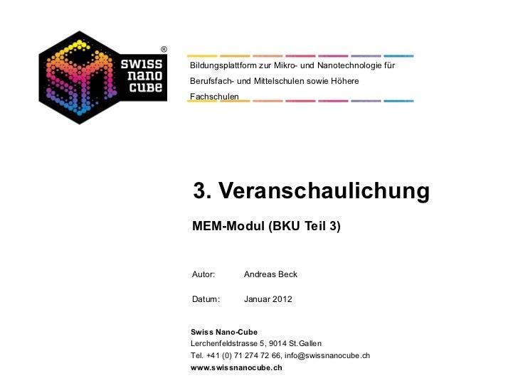 Bildungsplattform zur Mikro- und Nanotechnologie fürBerufsfach- und Mittelschulen sowie HöhereFachschulen3. Veranschaulich...