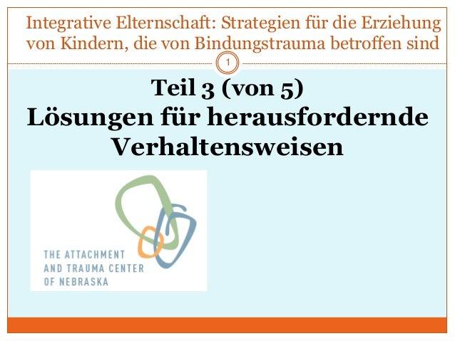 Integrative Elternschaft: Strategien für die Erziehung von Kindern, die von Bindungstrauma betroffen sind Teil 3 (von 5) L...