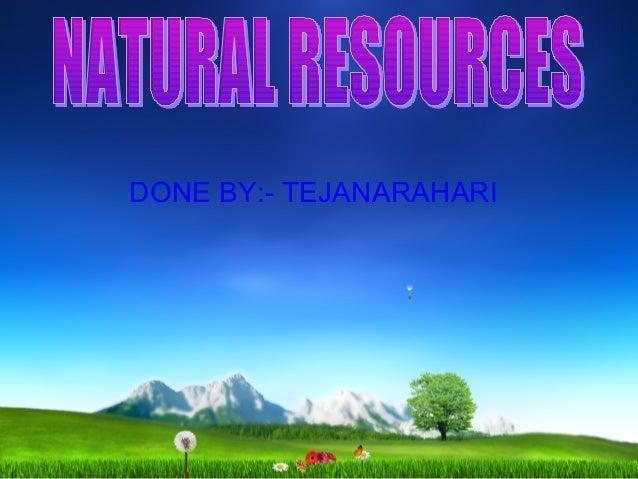 DONE BY:- TEJANARAHARI