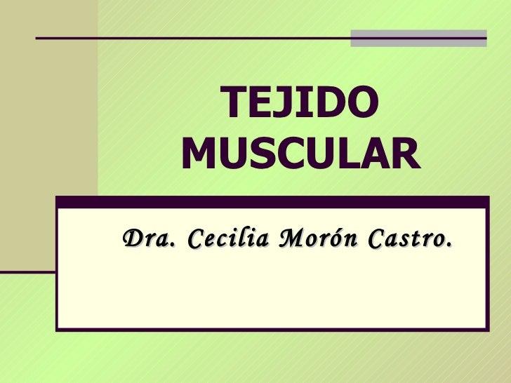 TEJIDO MUSCULAR Dra. Cecilia Morón Castro.