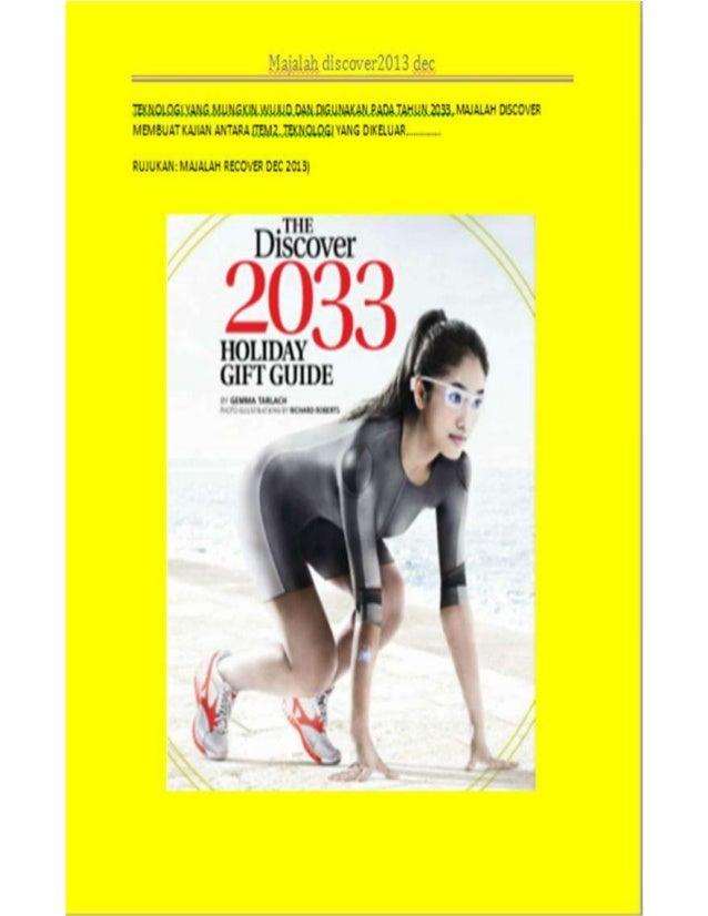 Teknologi ( TECHNOLOGY ) TAHUN 2033 - rujukan