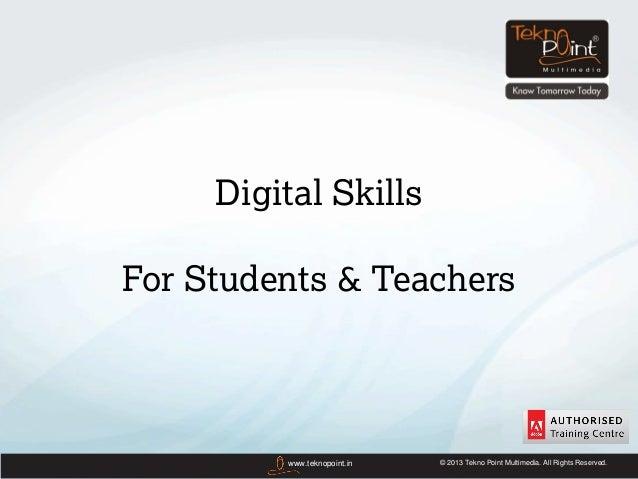 Digital Skills Training for Schools& Colleges