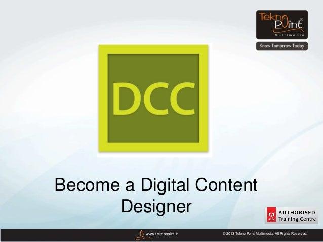 Become a Digital Content Designer