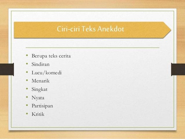 Teks anekdot (Bahasa Indonesia) Citra Pramita