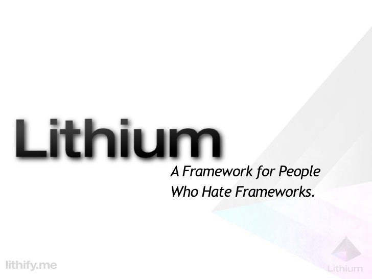 Tek-X: A Framework for People who Hate Frameworks - Lithium