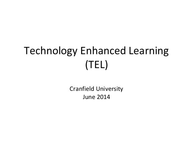Technology Enhanced Learning Workshop