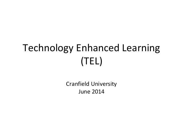 Technology Enhanced Learning Workshop