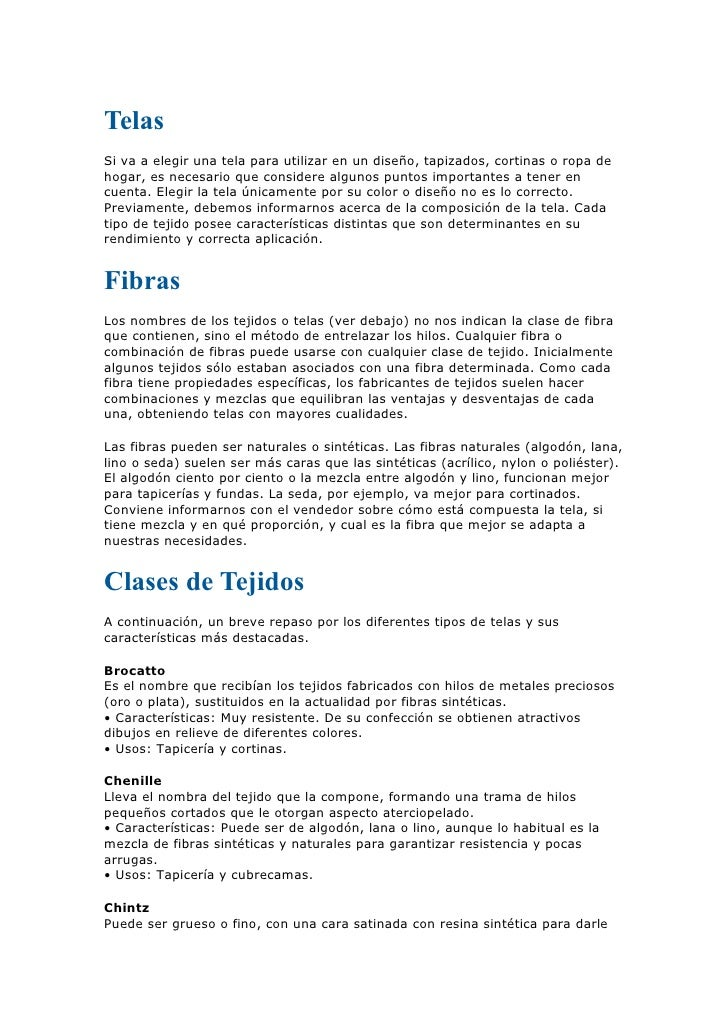 Telas clase doc for Telas para visillos de salon