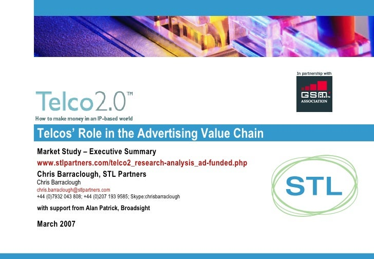 Telco 2.0 Report Summary:  Telcos' Role in Advertising Value Chain
