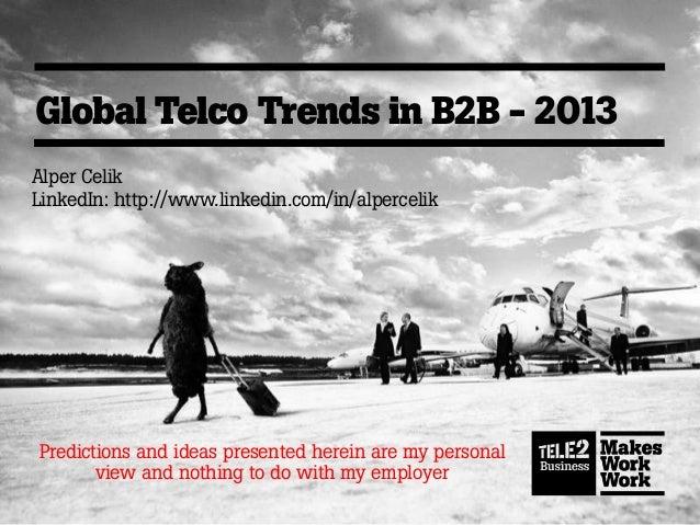 Telecom Trends on B2B - 2013