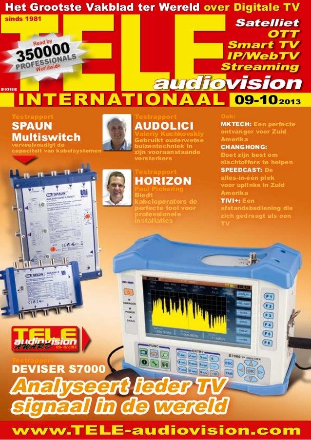 09-10/2013 www.TELE-audiovision.com Testrapport HORIZON Paul Pickering Biedt kabeloperators de perfecte tool voor professi...