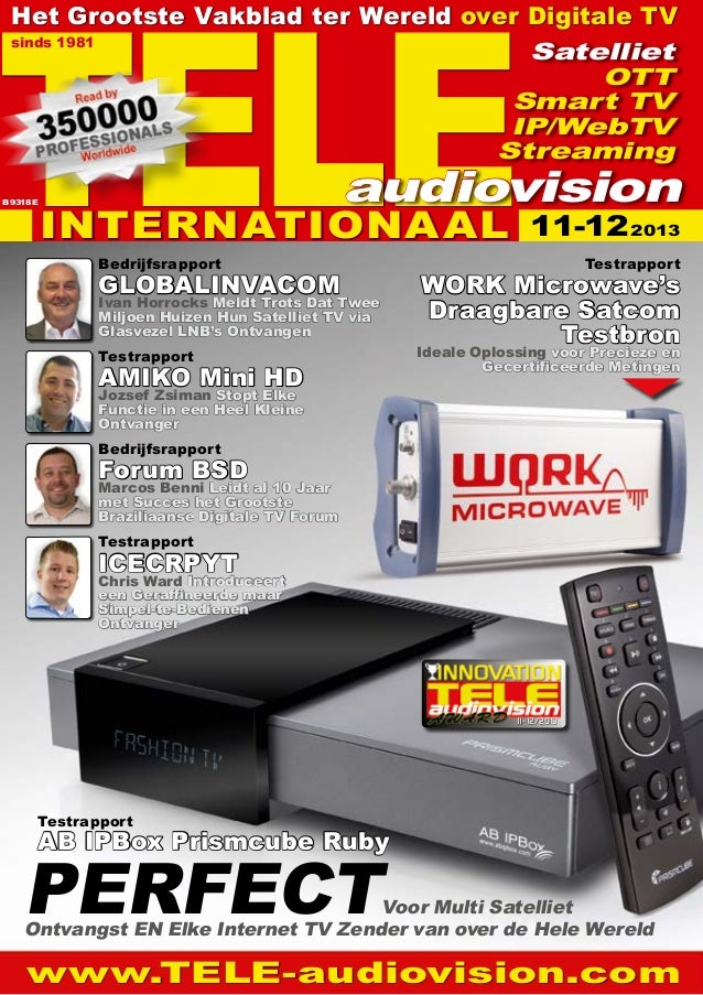 TELE  Het Grootste Vakblad ter Wereld over Digitale TV sinds 1981 Satelliet OTT Smart TV IP/WebTV Streaming  B 9318 E  aud...