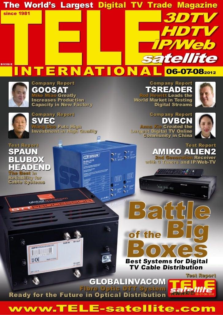 TELE  The World's Largest Digital TV Trade Magazine  since 1981                                                  3DTV     ...