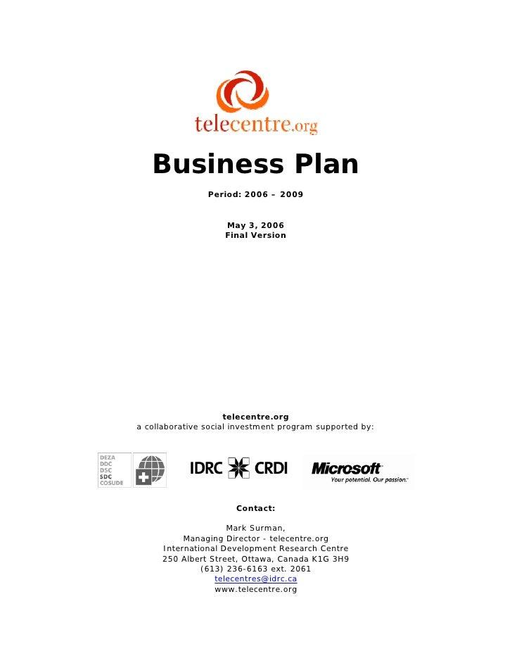 Telecentre Org Business Plan Final Public Version