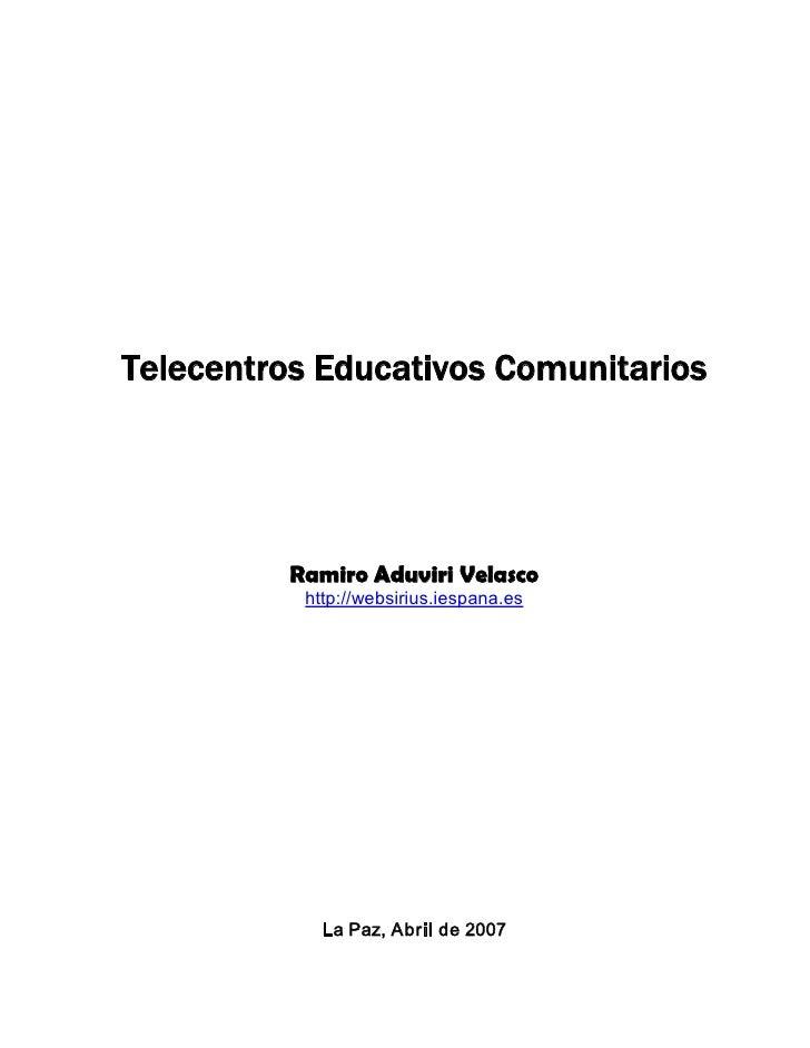 Telecentros Educativos Comunitarios