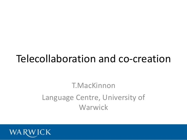 Telecollaboration and co-creation