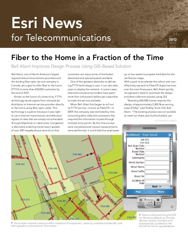 Esri News for Telecommunications 2013 newsletter