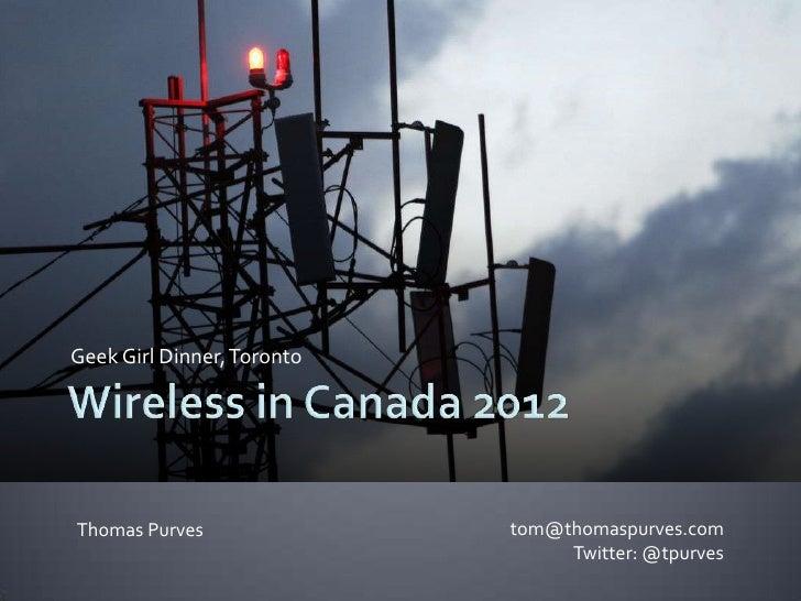Wireless in Canada 2012
