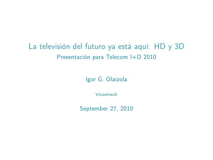 Telecomid2010 tv futuro
