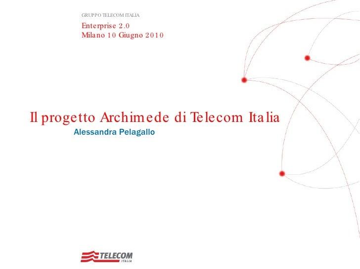 International Forum on E 2.0 - Telecom italia