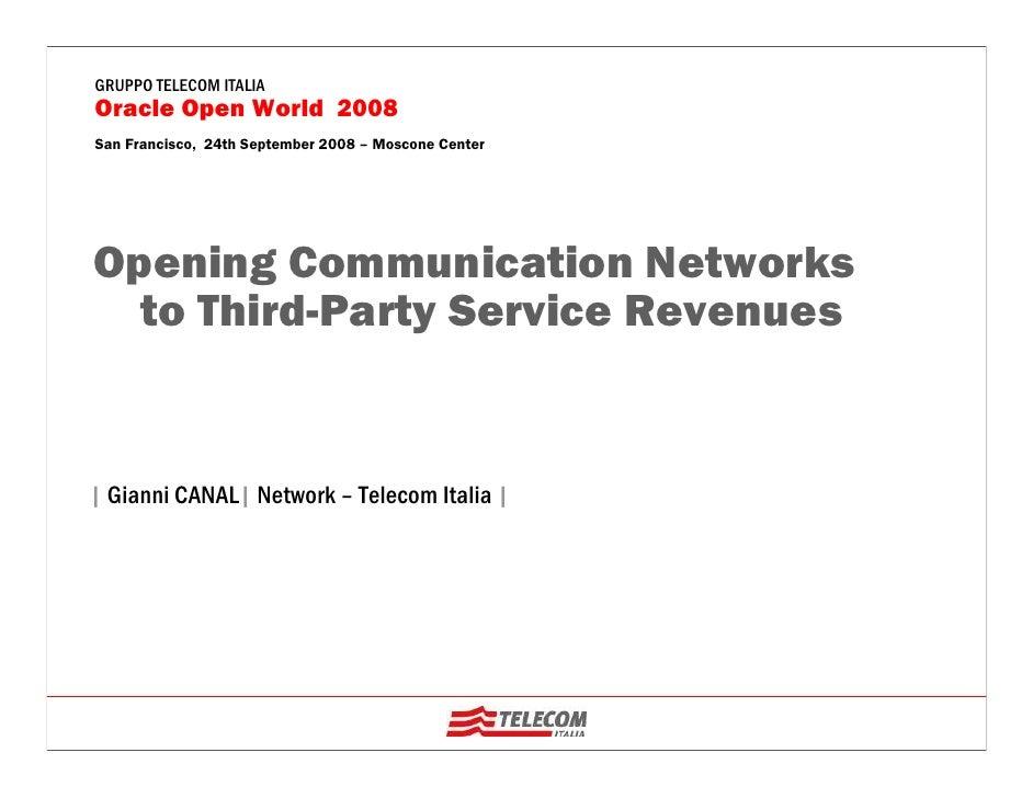 Telecom Italia Oracle World2008.Canal.V2