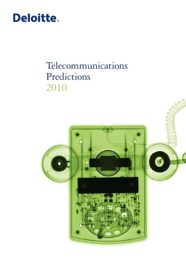 Deliotte: Telecomms Predictions 2010