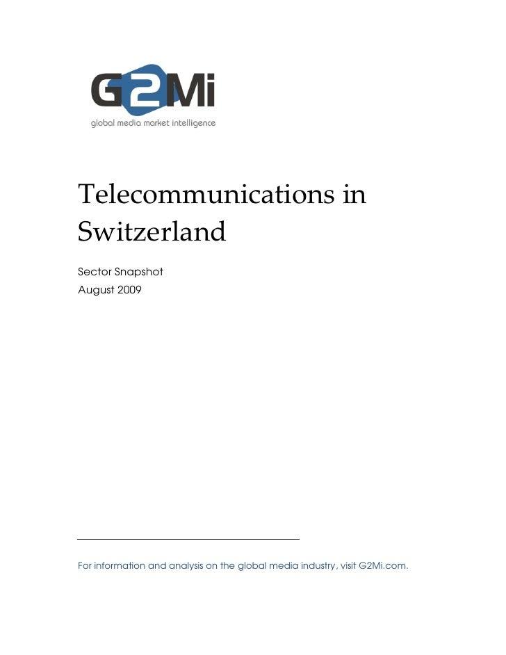 Telecommunications in Switzerland