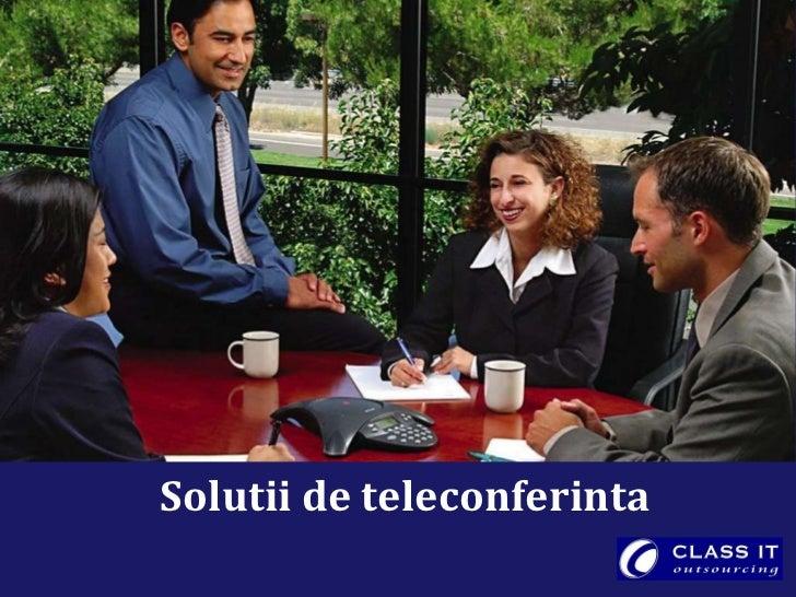 Solutii de teleconferinta