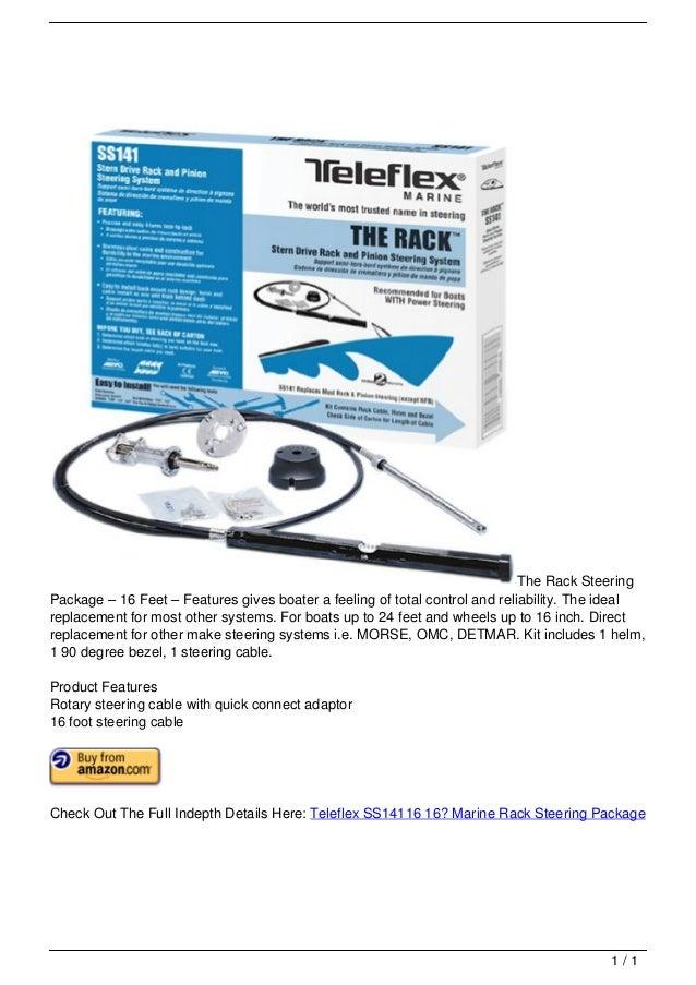 Teleflex SS14116 16′ Marine Rack Steering Package
