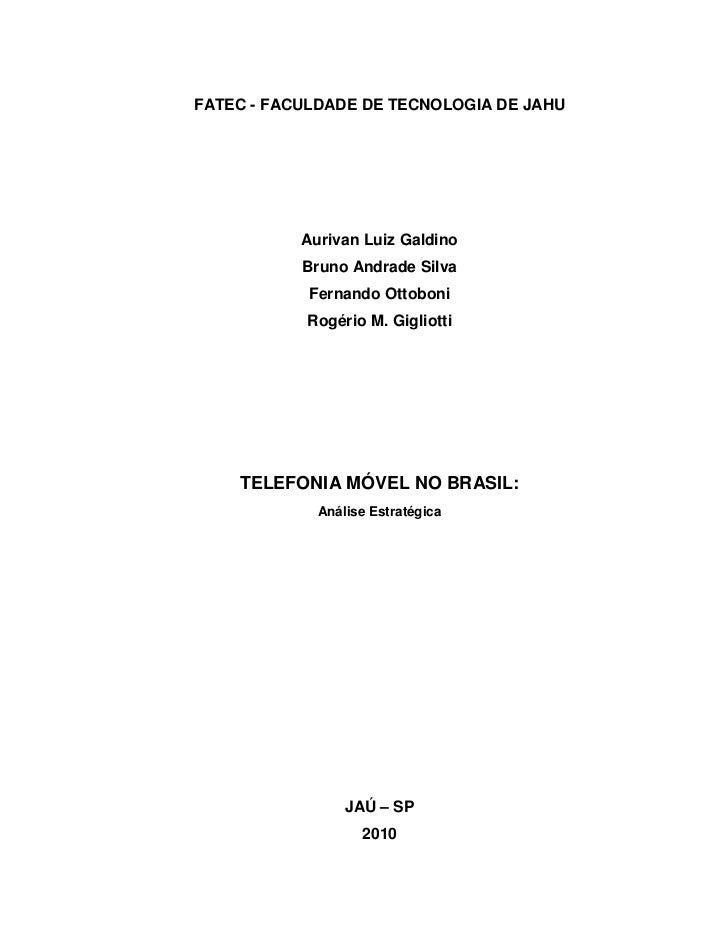 Telefonia Móvel no Brasil - Análise Estratégica