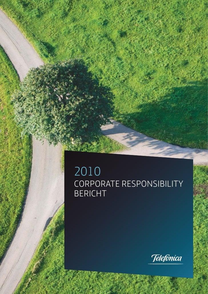 2010CORPORATE RESPONSIBILITYBERICHT