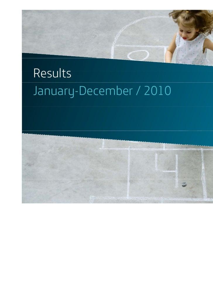 ResultsJanuary-December / 2010