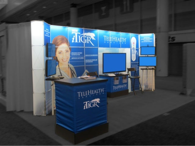Telehealth 10x20 trade show booth