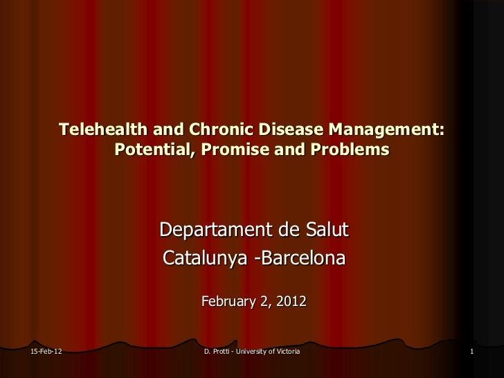 Telemedicina i pacients crònics / Telemedicine in chronic patients