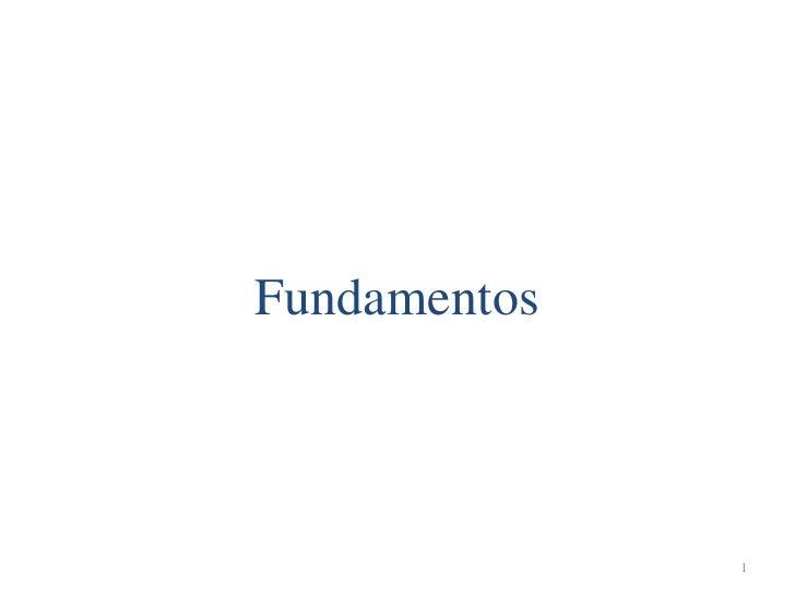 Fundamentos              1