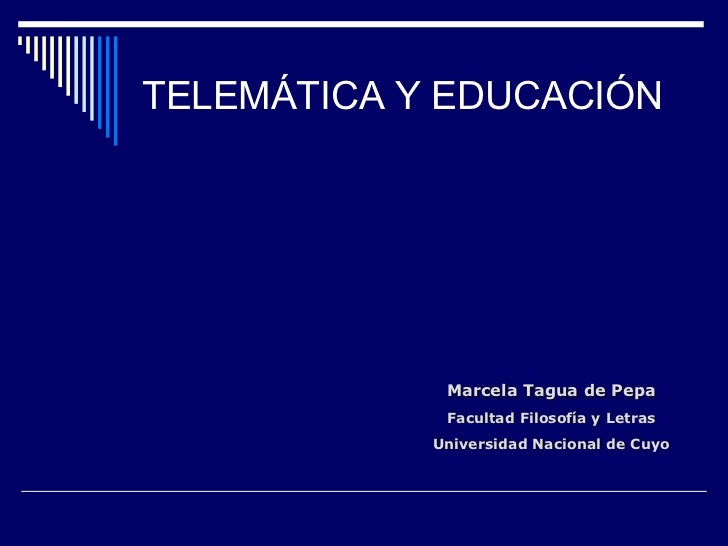 Telematica y educación