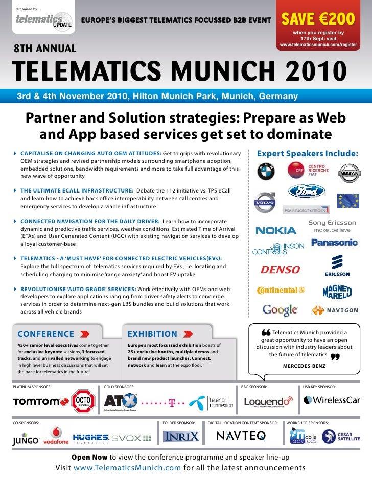Organised by:                                    EUROPE'S BIGGEST TELEMATICS FOCUSSED B2B EVENT                           ...