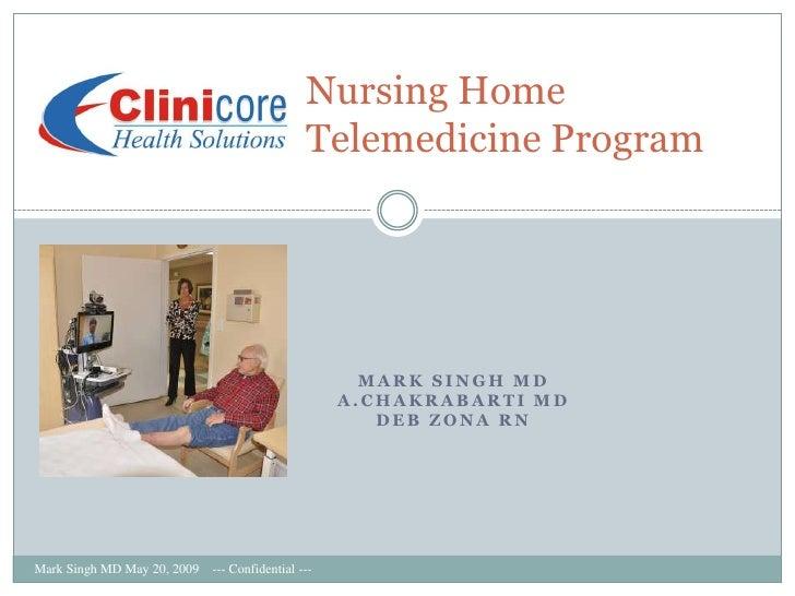 Nursing Home                                                Telemedicine Program                                          ...