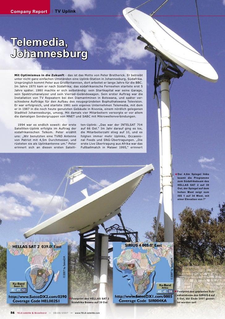 Company Report                   TV Uplink     Telemedia, Johannesburg   Mit Optimismus in die Zukunft - das ist das Motto...