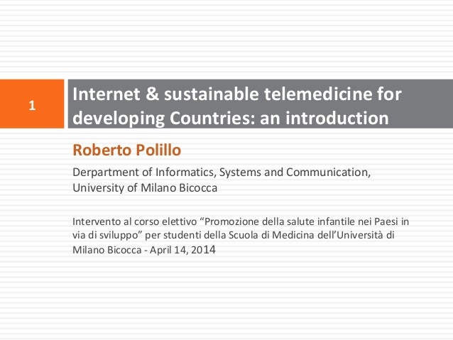 Internet and sustainable telemedicine for developing countries: an introduction