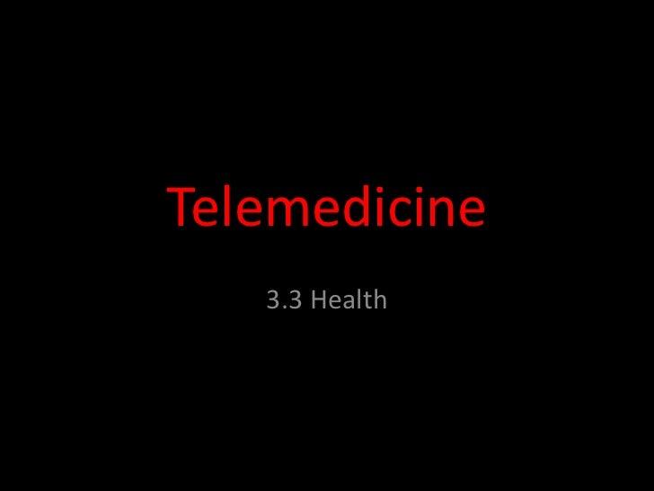 Health - Telemedicine