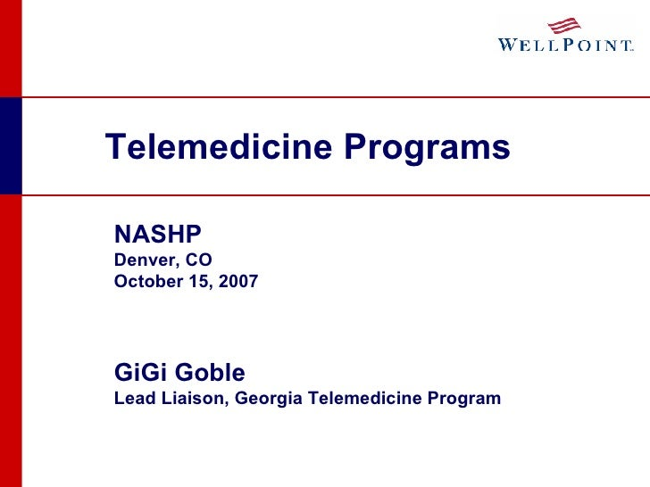 Telemedicine Programs