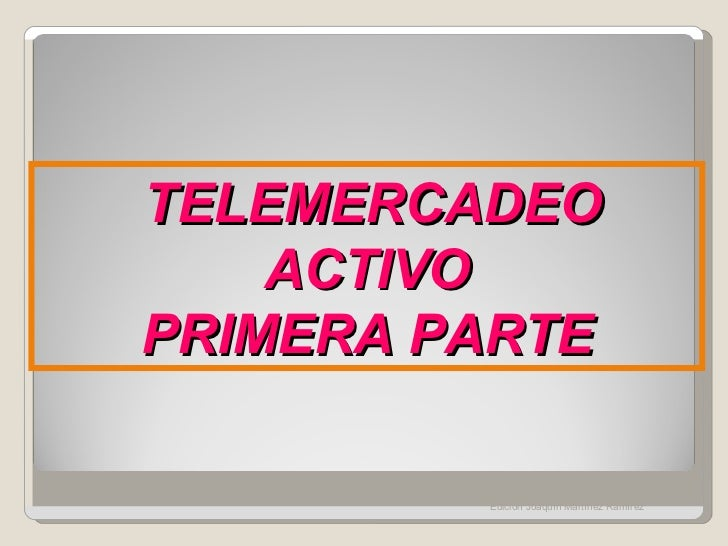 Telemercadeo activo 1